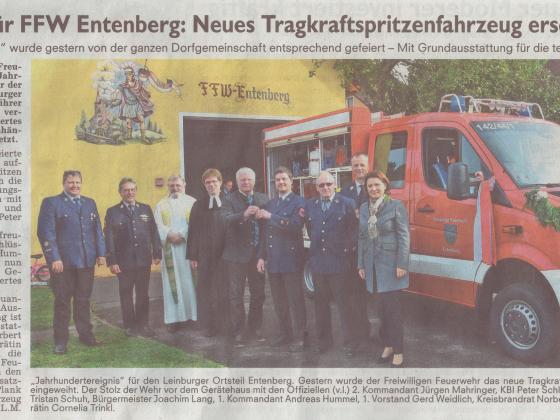 Fahrzeugweihe TSF 2016