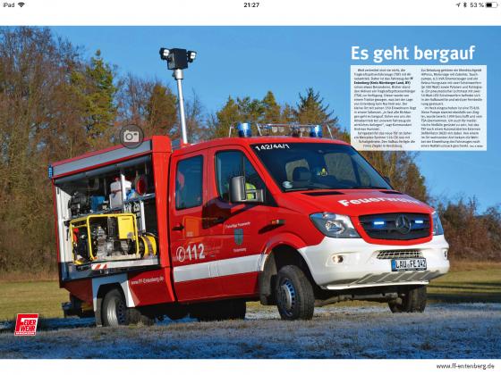 Unser TSF im Feuerwehrmagazin